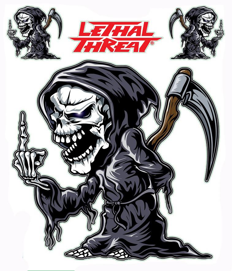 Aufkleber Sticker Motorrad Auto Roller Lkw Lethal Thread Lt90686