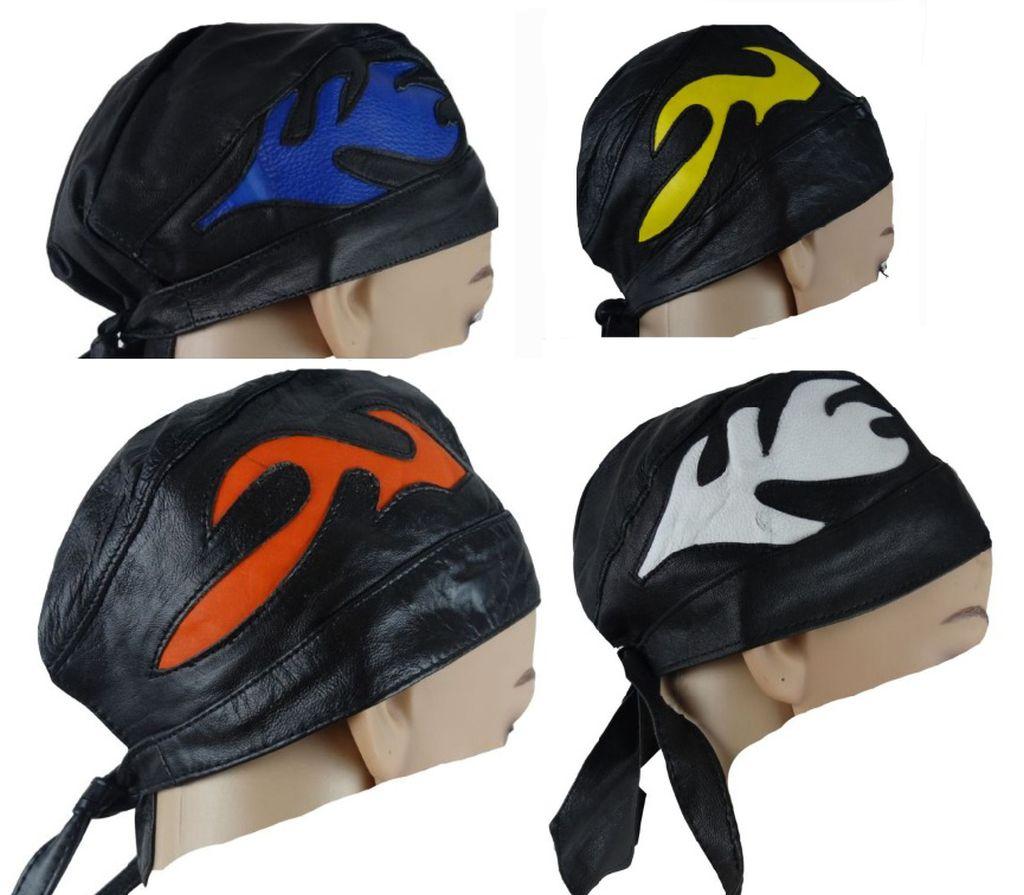Bangla Leder Bandana Biker Rocker Kopftuch Headwrap verschiedene Farben