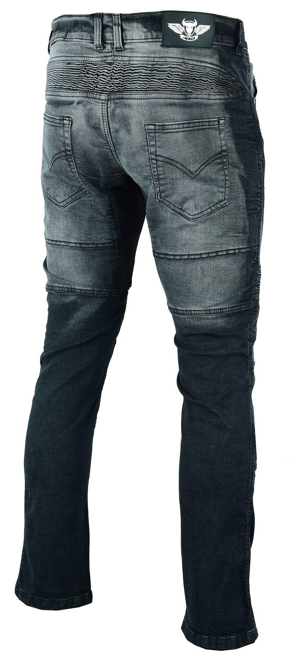 Herren Motorrad Jeans Motorradhose Denim mit Protektoren schwarz 32 - 42 inch