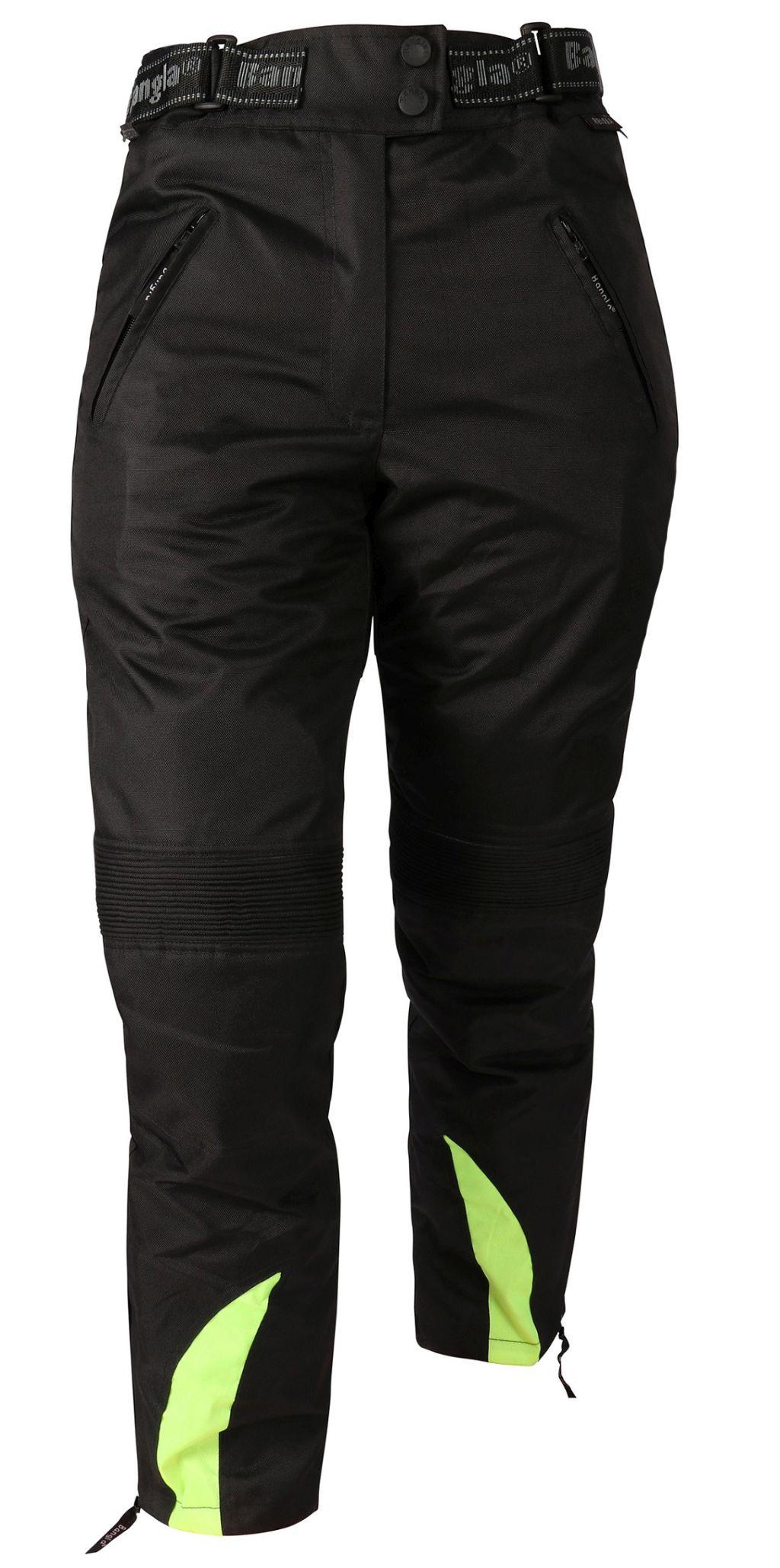 Bangla Damen Motorrad Cordura Textil Hose Schwarz Neon gelb S M L XL XXL XXXL