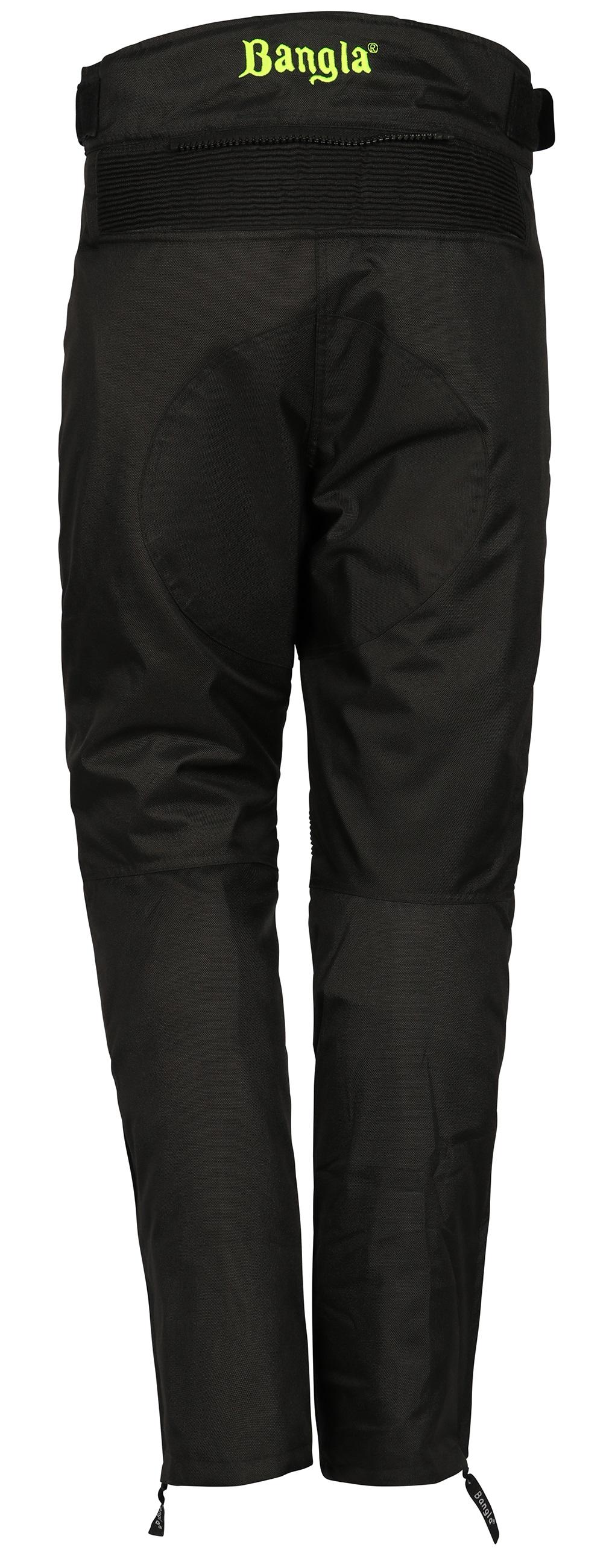 Bangla Damen Motorrad Hose Motorradhose Cordura Textil Schwarz Neongelb S - XXXL