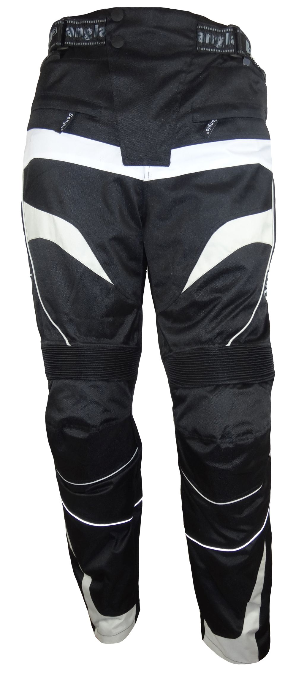 Bangla Motorrad Hose Motorradhose Textil Cordura schwarz grau weiss S - 8 XL