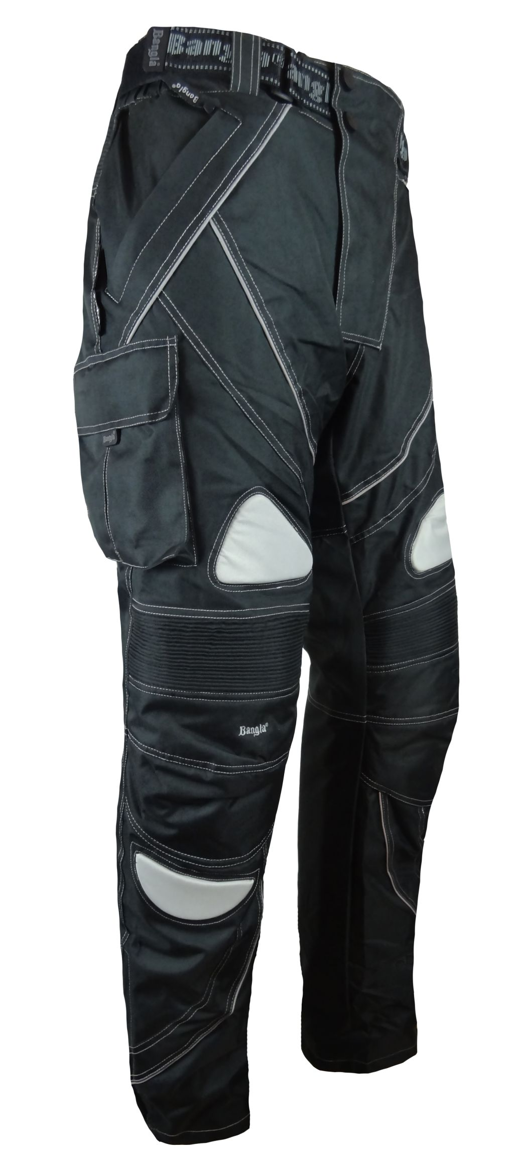 Bangla Winter Motorradhose Cordura Schwarz mit Fleece Motorrad S - 6 XL