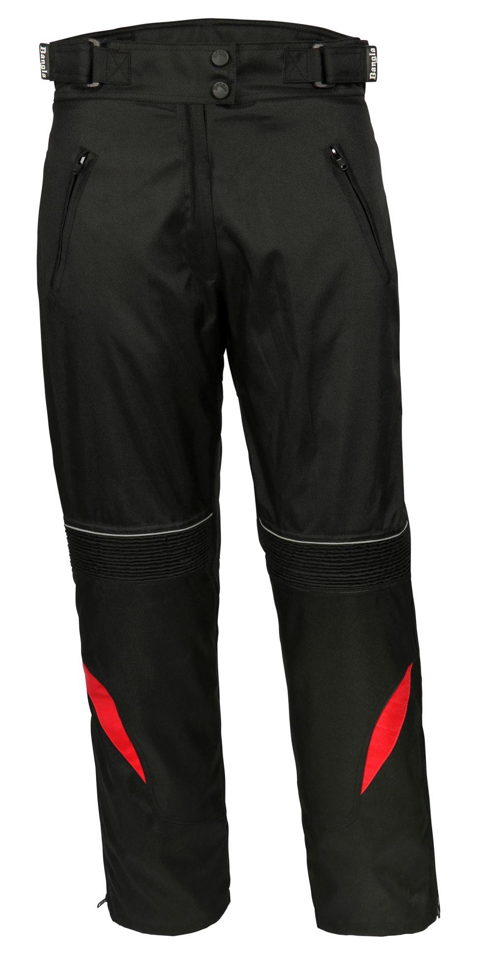 Bangla Damen Motorradhose Textil Hose Schwarz Rot S M L XL XXL 3XL 4XL