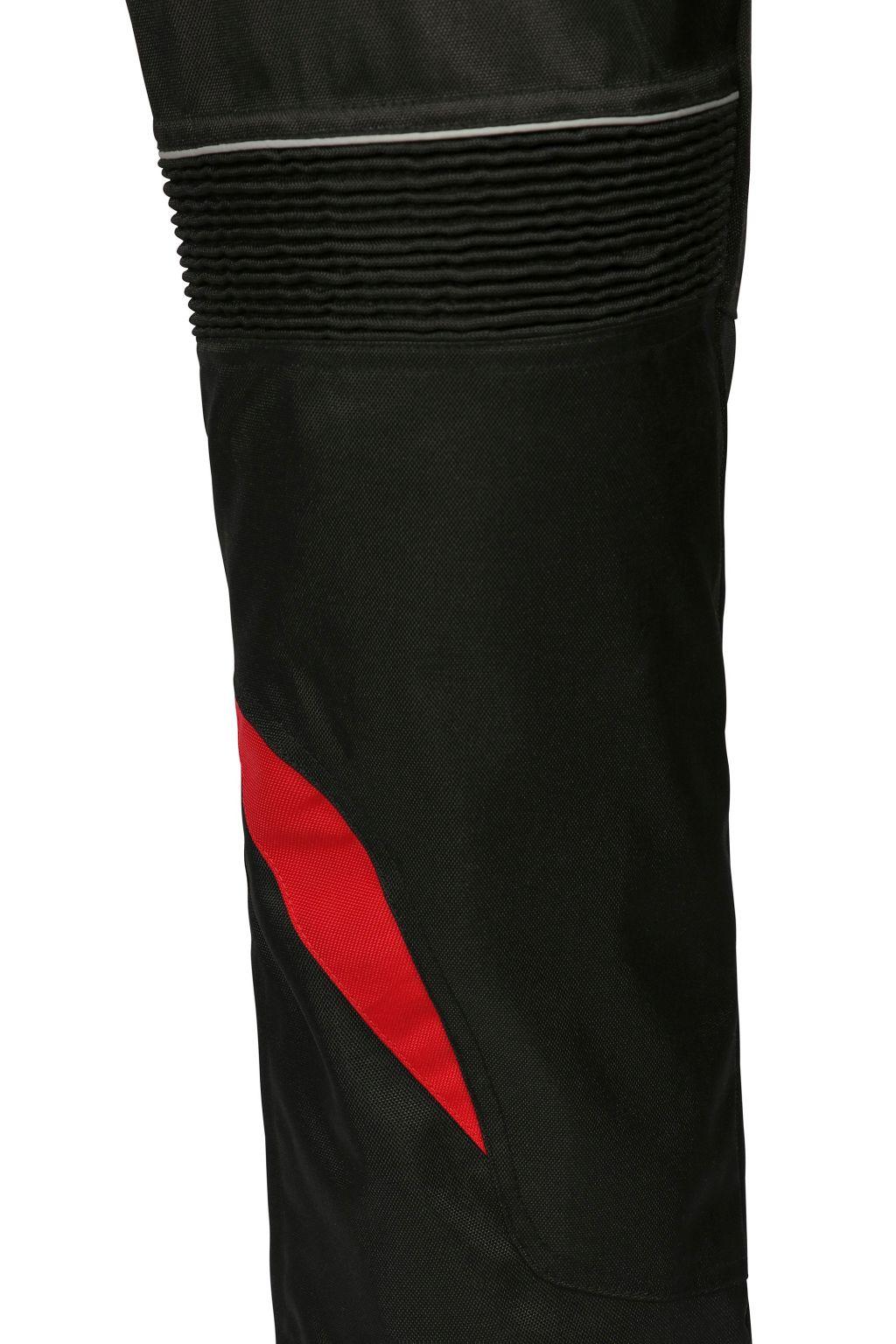 Bangla Damen Motorradhose Textil Hose Schwarz Rot S M L XL XXL XXXL