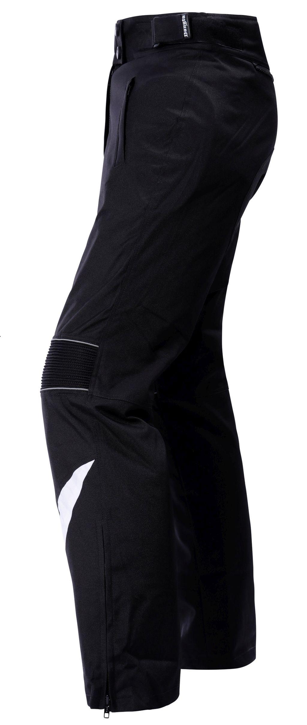 Damen Motorradhose Cordura Textil Schwarz mit weiss Bangla 1721 S-4 XL
