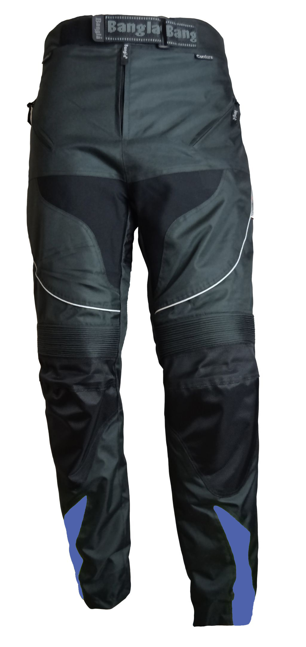 Bangla Motorrad Hose Motorradhose Textil Cordura schwarz mit blau S - 7 XL