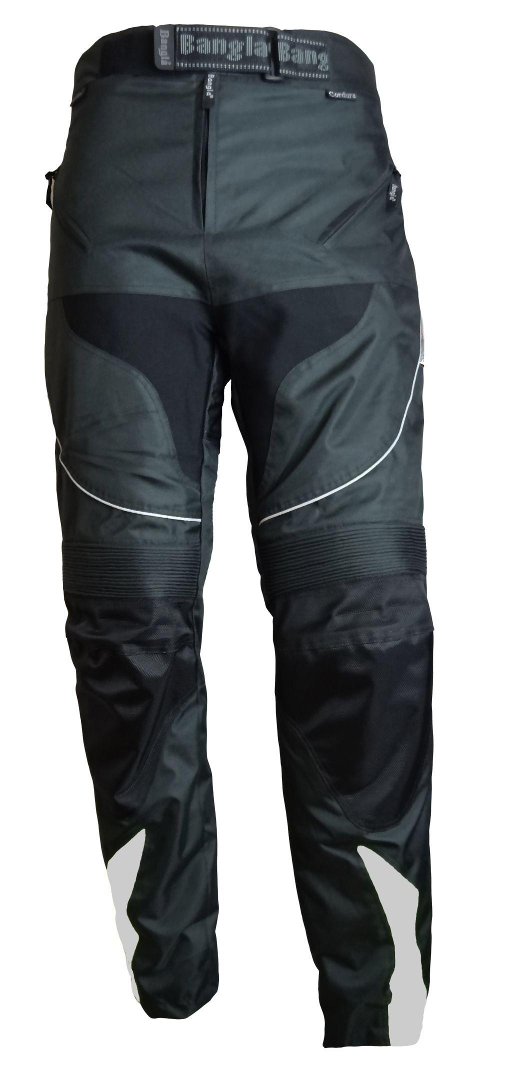 Bangla Motorrad Hose Motorradhose Textil Cordura schwarz mit grau S - 7 XL
