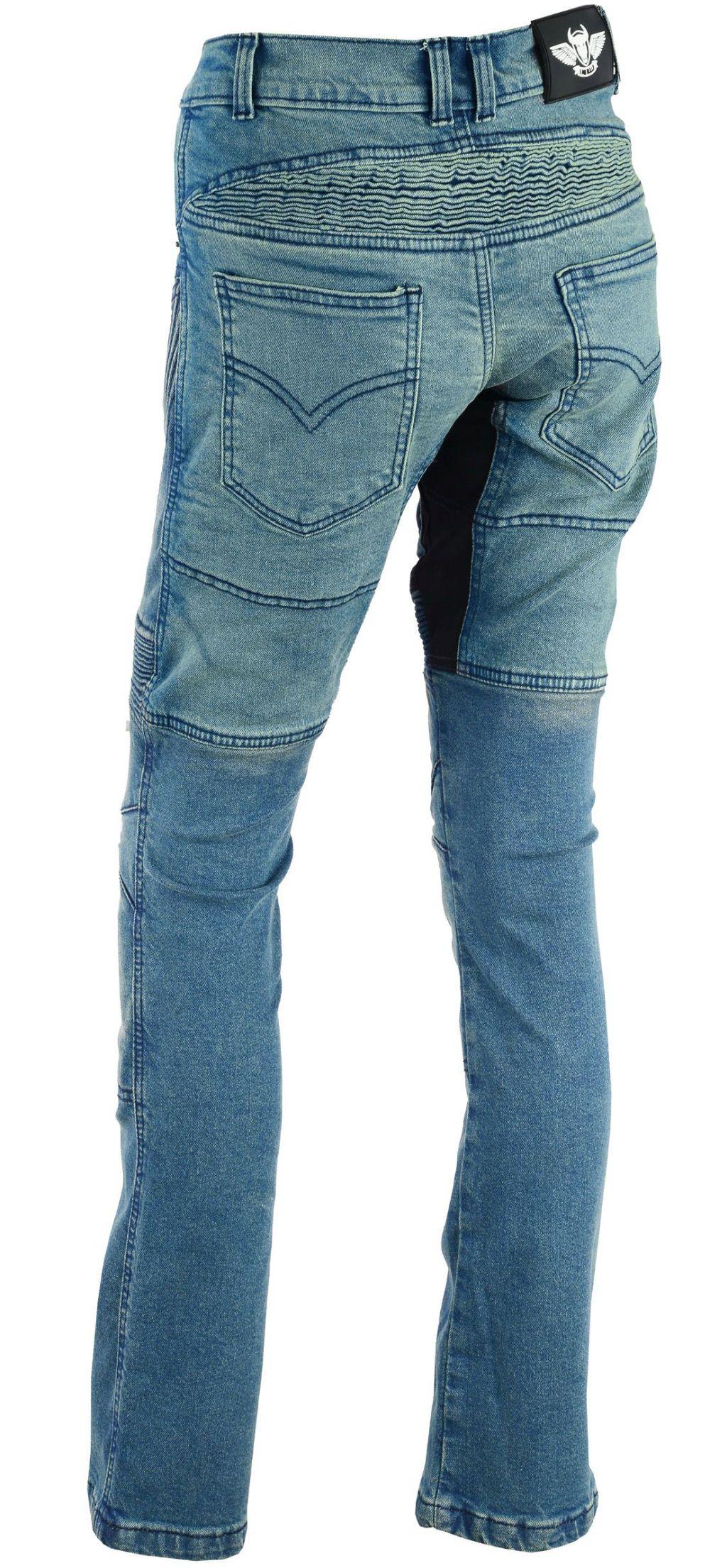 Damen Motorrad Hose Motorradhose Jeans Denim mit Protektoren blau 28 - 36 inch
