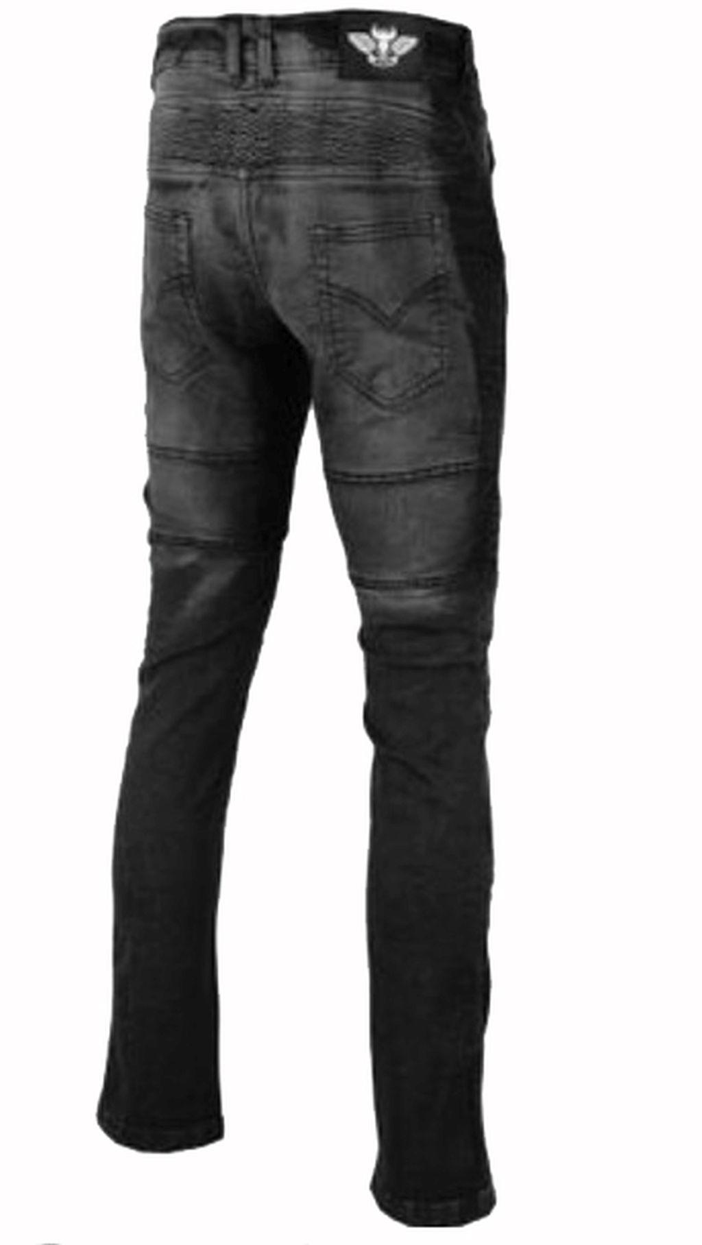 Damen Motorrad Hose Motorradhose Jeans Denim mit Protektoren schwarz 28-36 inch