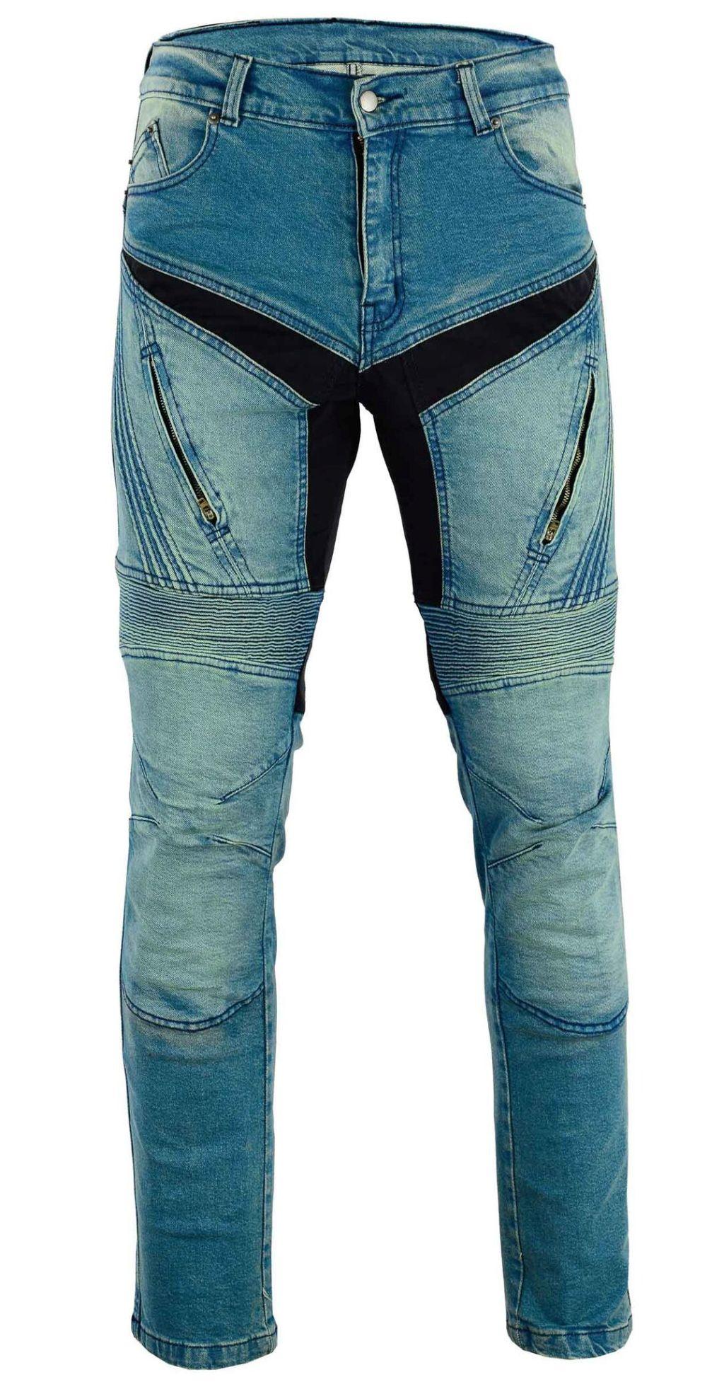 Herren Motorrad Jeans Motorradhose Denim mit Protektoren 32 - 42  inch