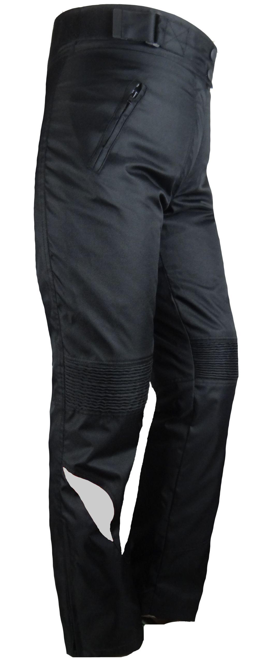 Damen Motorrad Cordura Textil Hose Schwarz mit Grau S - 4 XL