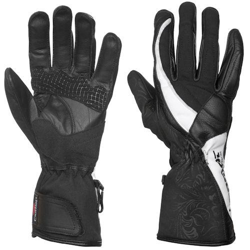 DAMEN Handschuh VANESSA s/w - lange Fingerlänge  6 - 10