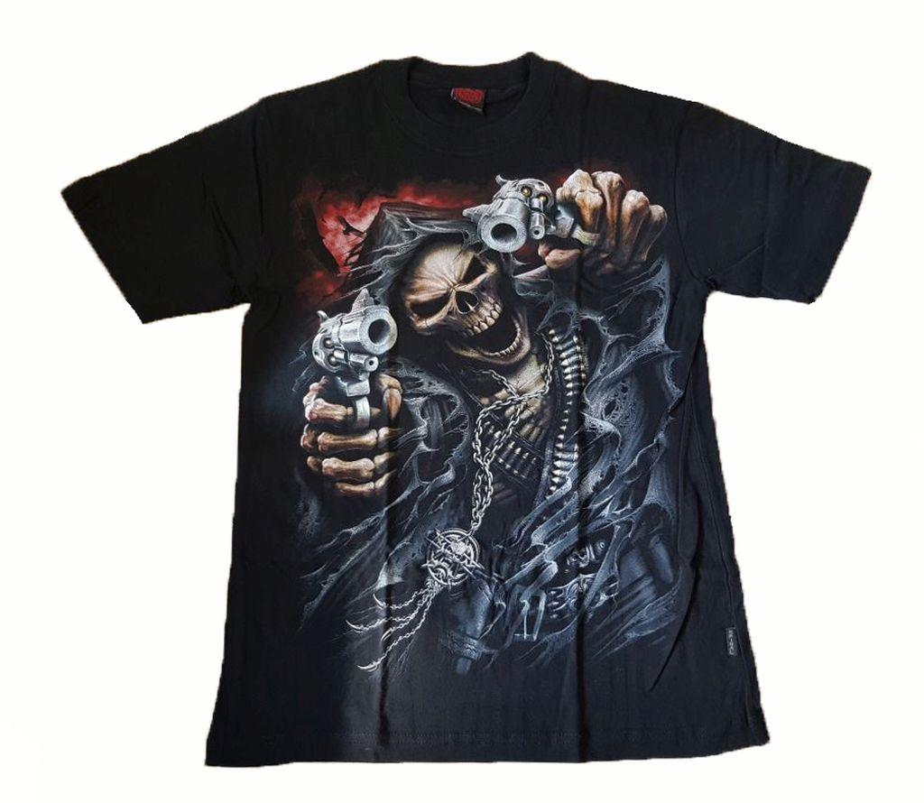 Spiral T Shirt Gothic Dark Schwarz Herren Assassin Neu Gr. S - XL