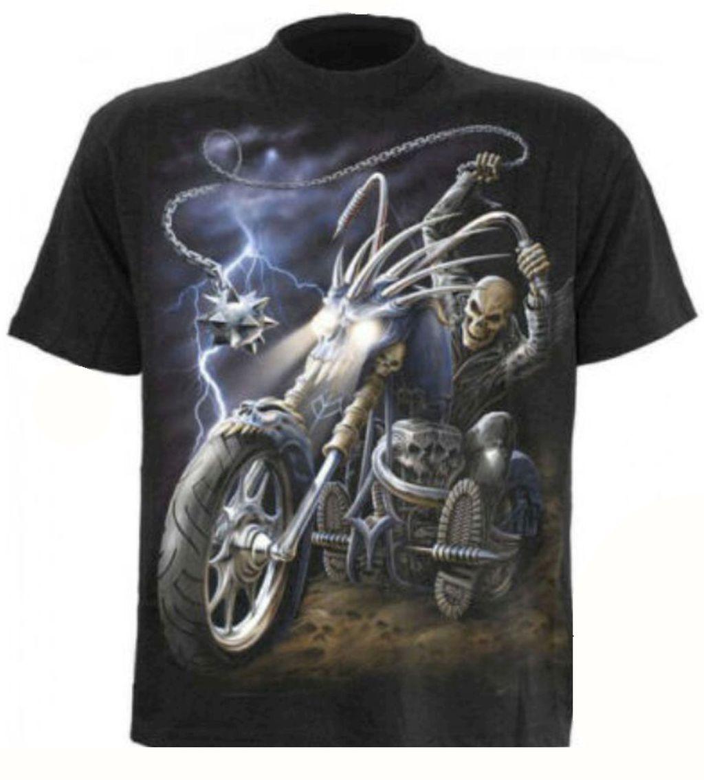 Spiral T Shirt Gothic Dark Schwarz Herren Ride to Hell Neu Gr. M - XXL
