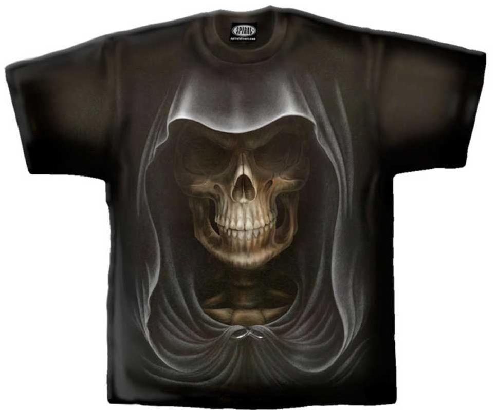 Spiral T Shirt Gothic Dark Schwarz Unisex DEATH TR 155 Neu Gr M - XXL