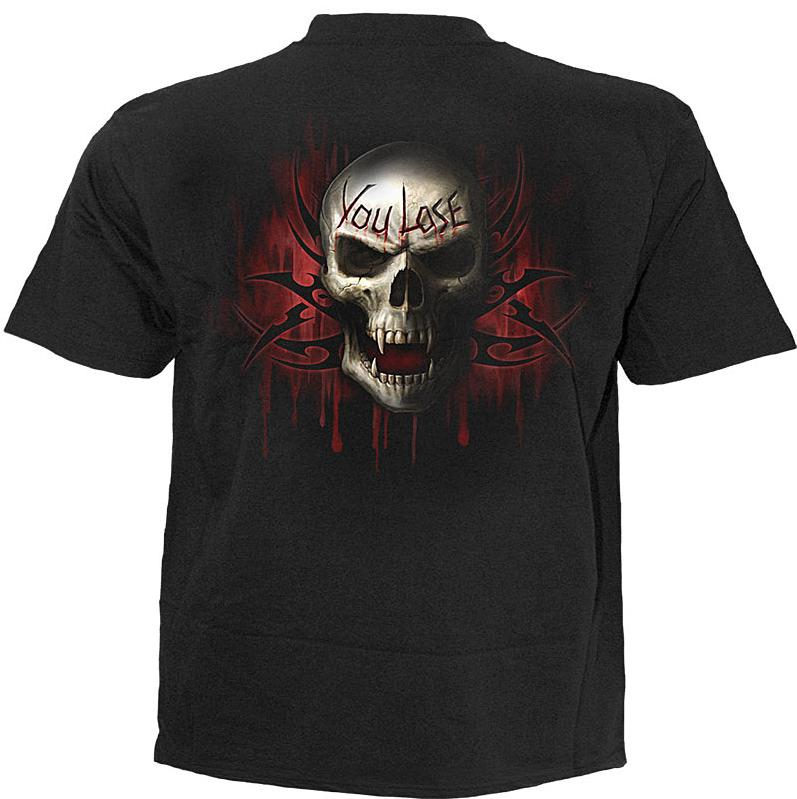 Spiral T Shirt Gothic Dark Schwarz Unisex GAME OVER TR 260 Neu S - XL