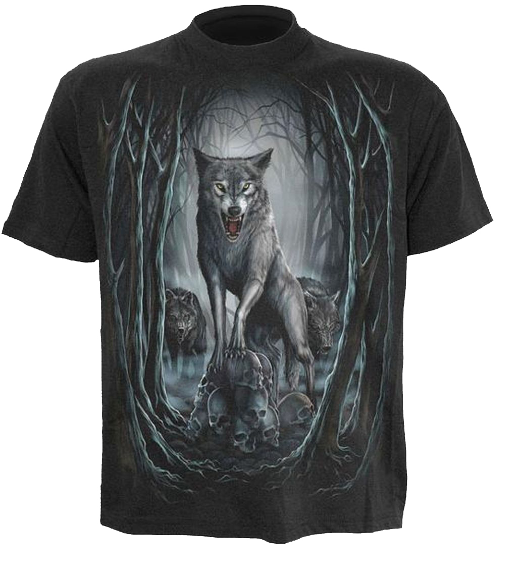 Spiral T Shirt Gothic Dark Schwarz Unisex Wolf Nights TR3096 Neu S -XL