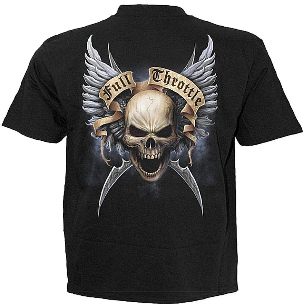 Spiral T Shirt Gothic Dark Schwarz Herren Shut up TR 343 Neu M - XXL