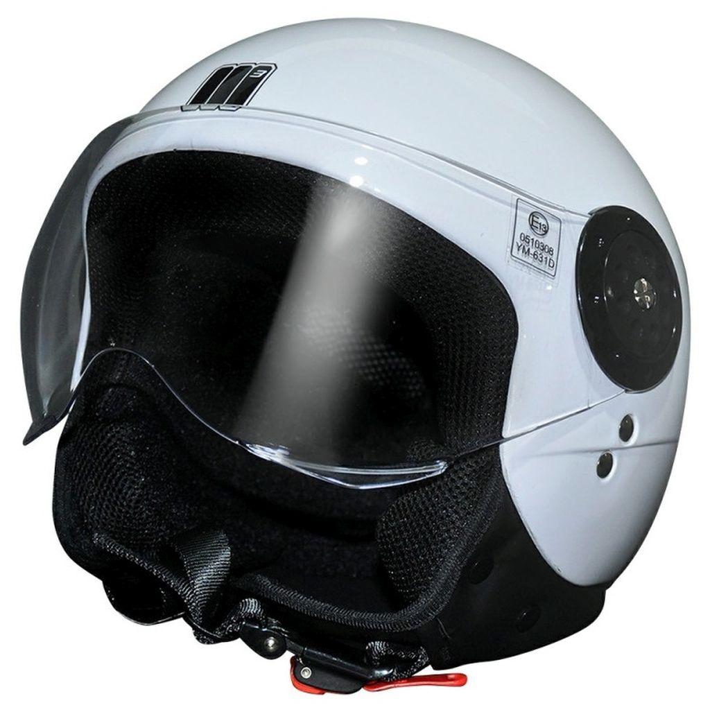 Motocubo Motorrad Jet Helm Jethelm Jeko Sonnenblende schwarz weiss army XS-XL