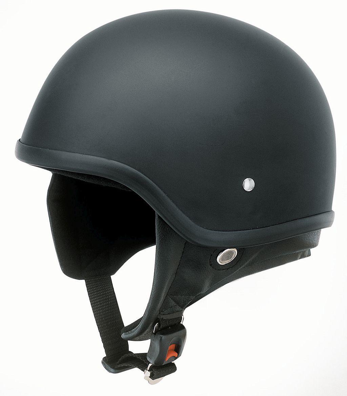 Motorrad Oldtimer Helm Jethelm Retro Kochmann Redbike RB 450 Matt schwarz S -XL