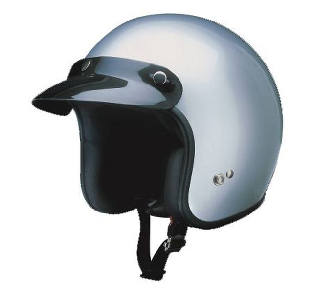 Redbike Motorrad Helm Jethelm Oldtimer Kochmann RB 710 silber XS - XXL