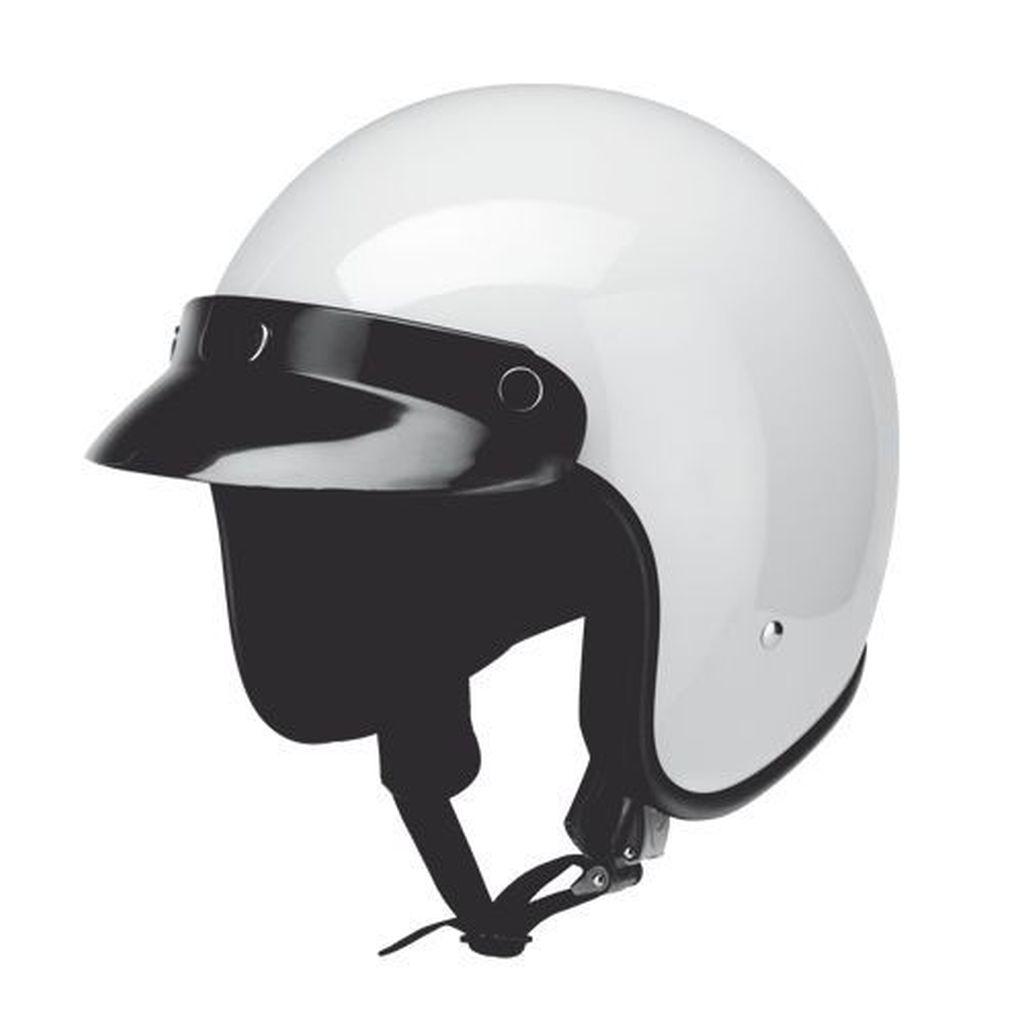 Redbike Motorrad Roller Helm Jethelm Oldtimer Kochmann RB 710 weiss XS - XXL