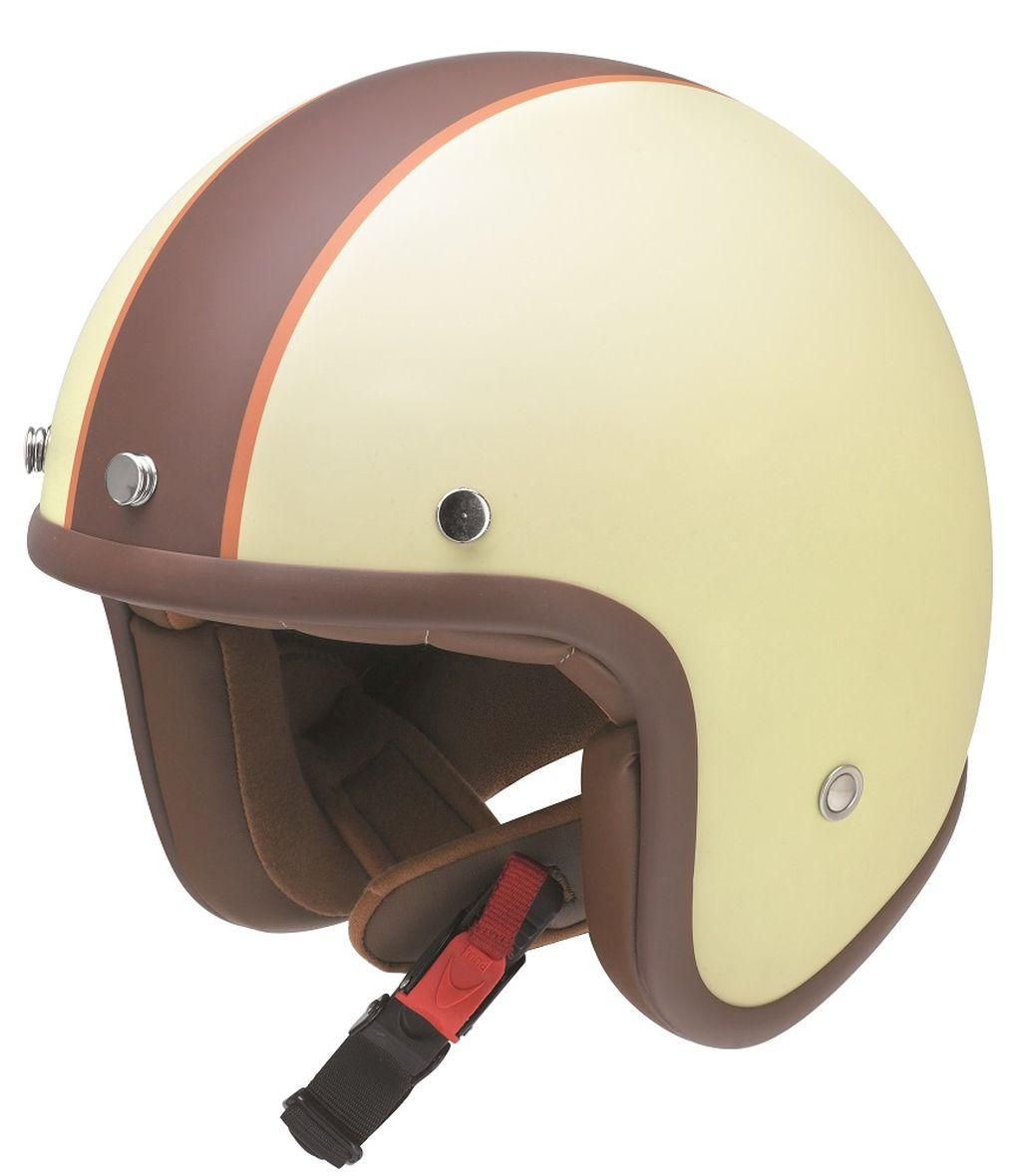 Redbike Motorrad Helm Jethelm Kochmann Vanilla RB 754 matt-elfenbein braun XS-XXL