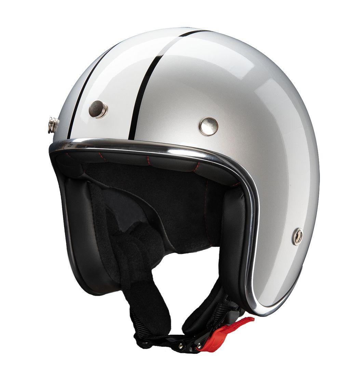 Redbike Motorrad Helm Jethelm Indiana Kochmann RB 755 silber weiss XS - XXL