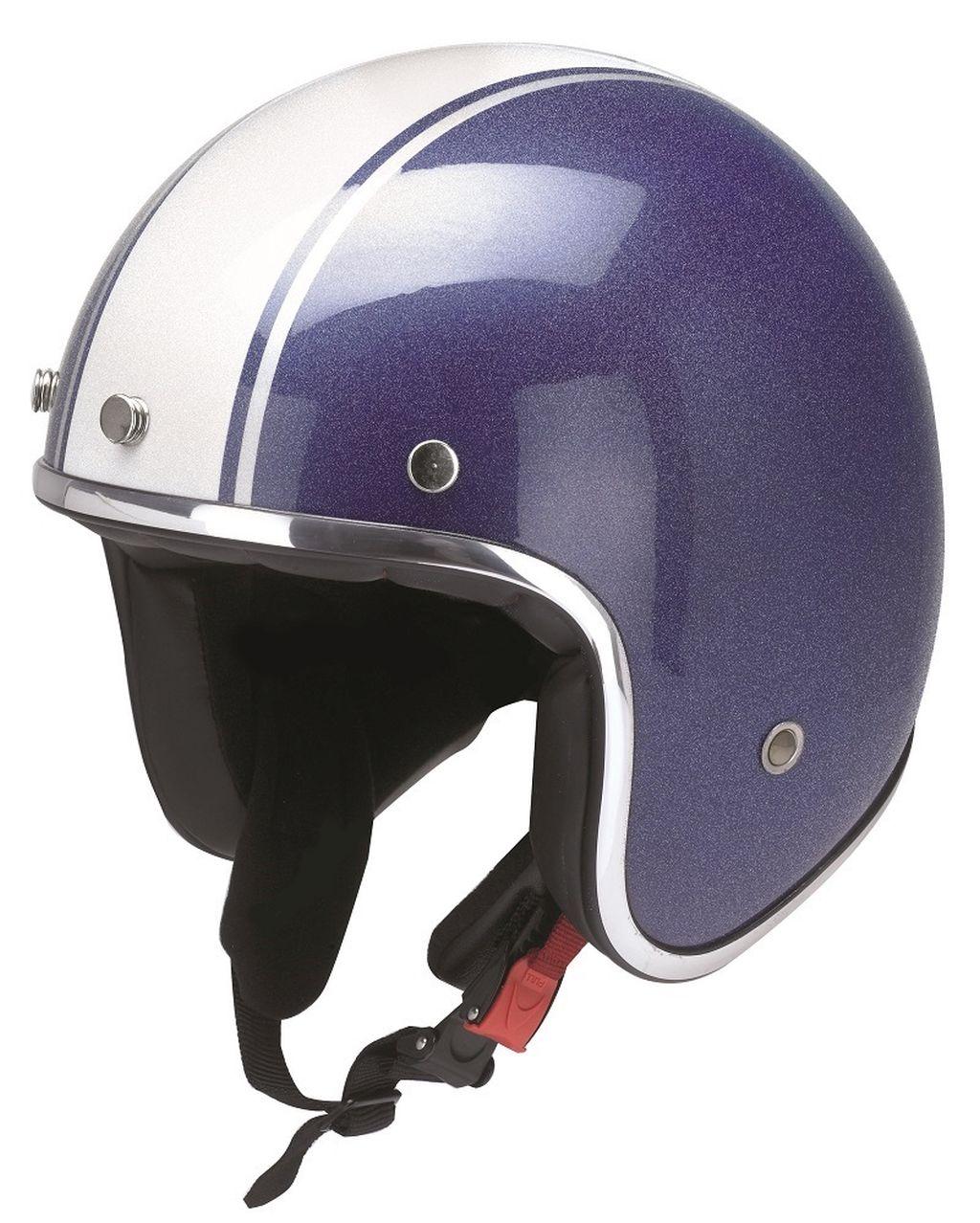 Redbike Motorrad Helm Jethelm Oldtimer Palermo Kochmann RB 758 blau weiss XS-XXL