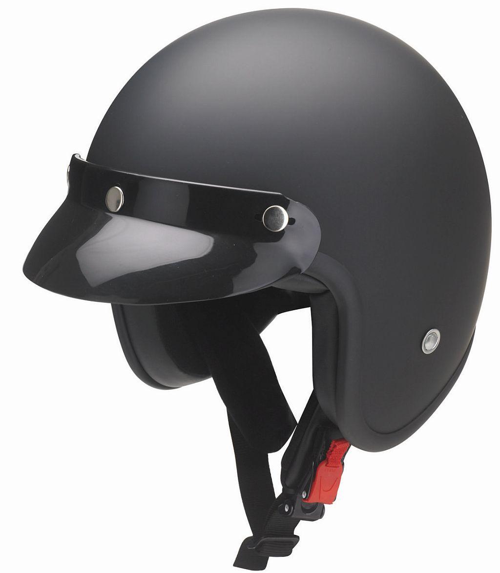 Kochmann Motorrad Jet Helm schwarz matt abnehmbarer Schirm RB 760 Shadow XS -XXL