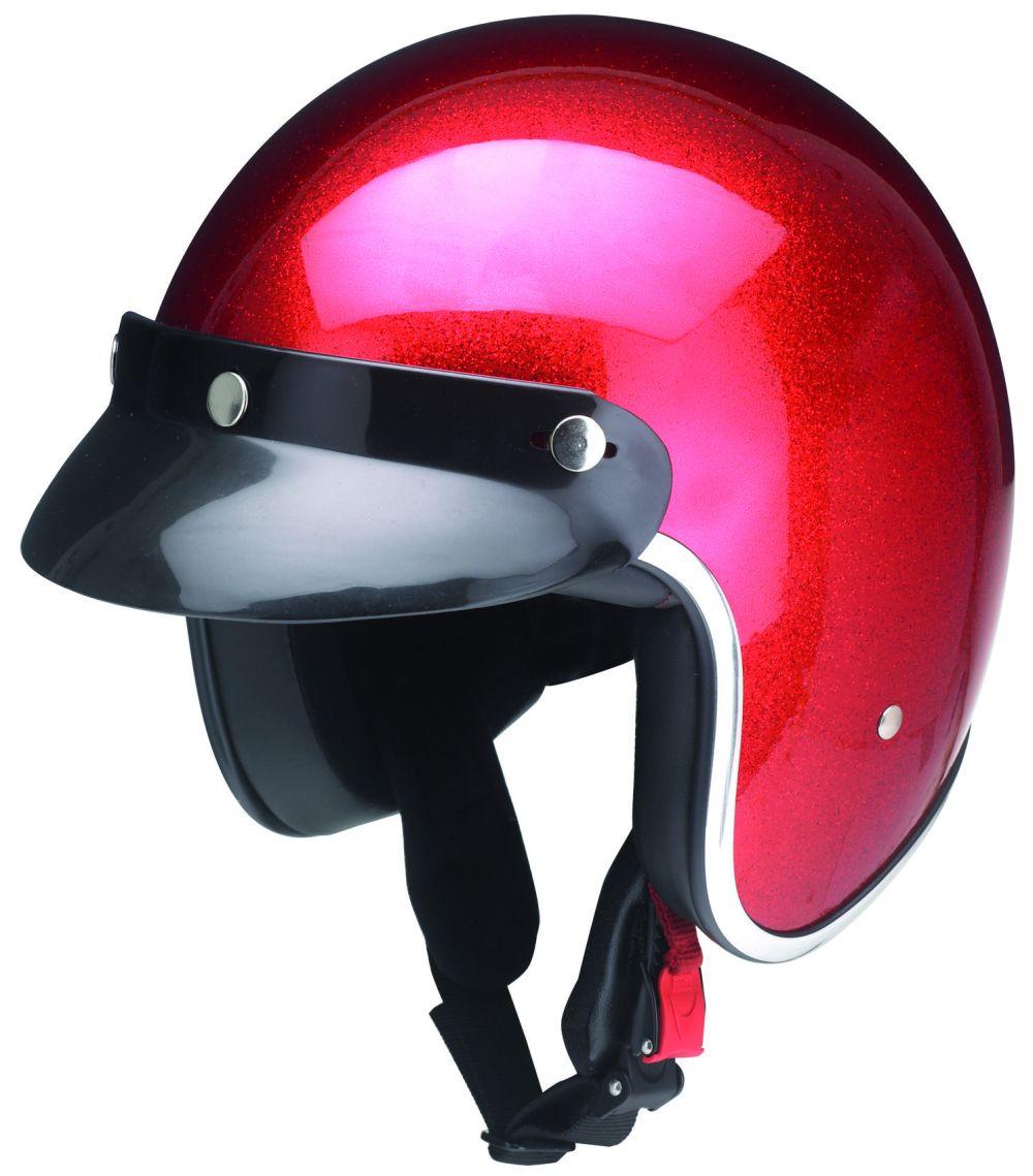 Motorrad Helm Motorradhelm Jethelm Kochmann Metallic Rot XS S M L XL XXL