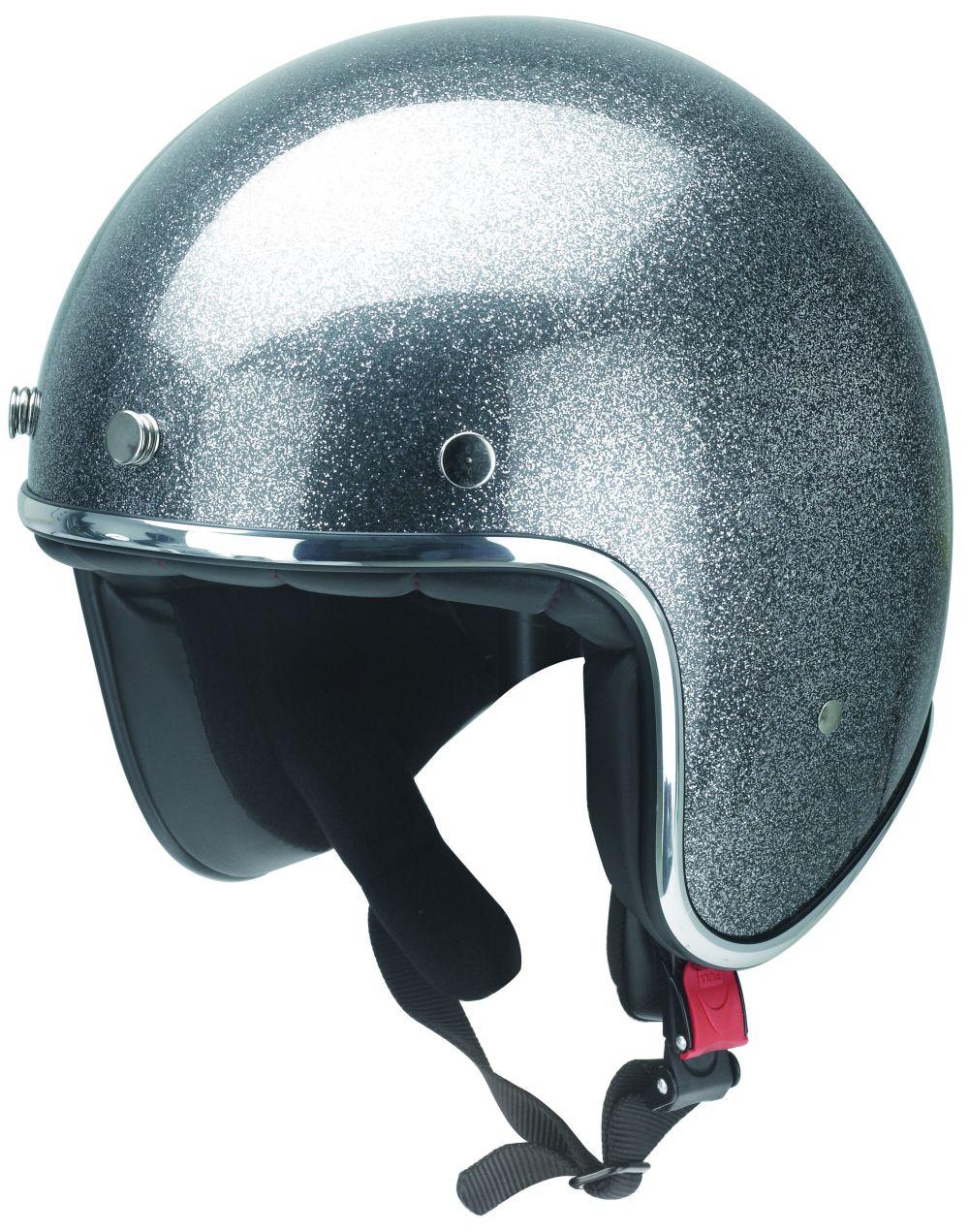 Motorrad Helm Motorradhelm Jethelm Kochmann Metallic Grau XS S M L XL XXL