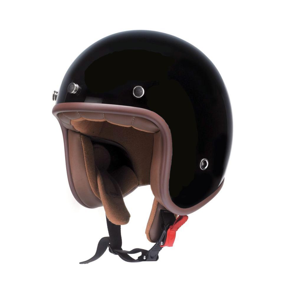 Redbike Motorrad Jet Helm schwarz mit ECE RB 766 Classic XS - XXL