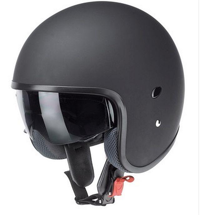 Kochmann Motorrad Jet Helm Matt schwarz mit Sonnenblende RB 770 XS- XXL