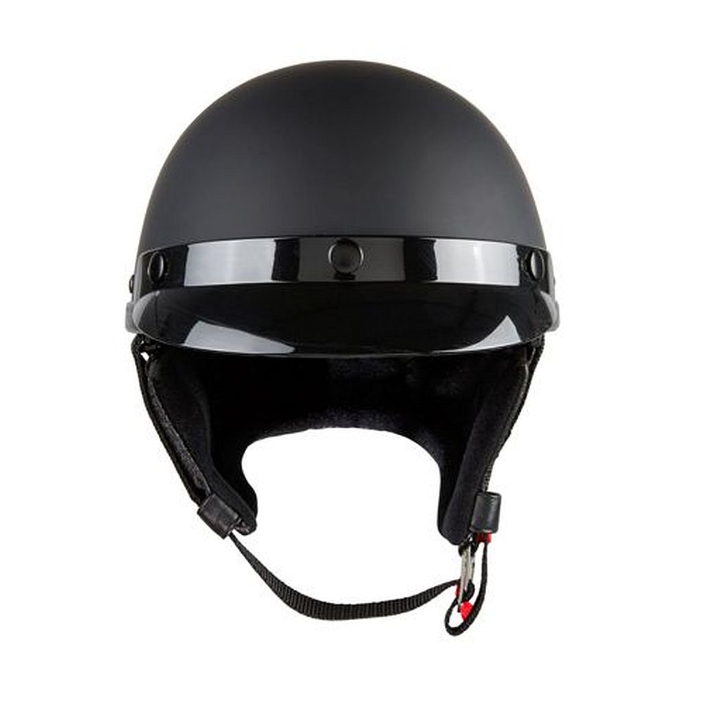 Motorrad Oldtimer Police Helm Retro Braincap Redbike RB 520 schwarz matt S-XXL