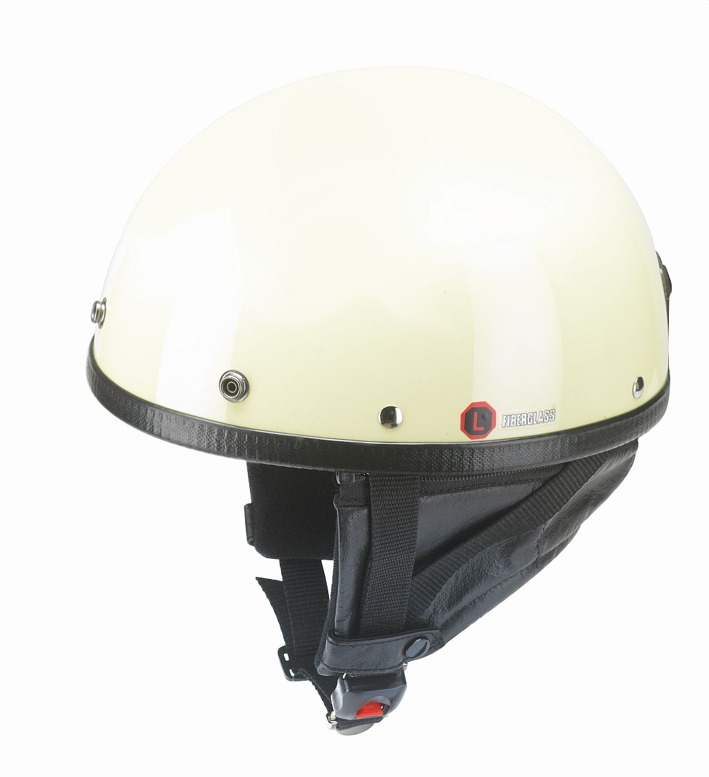 Motorrad Police Helm Retro Braincap Redbike RB 520 elfenbein S-XXL