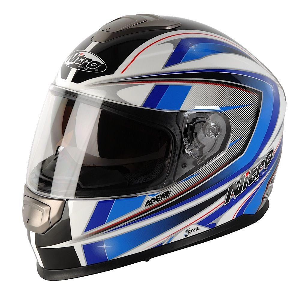 nitro apex 1100 dvs motorrad helm motorradhelm weiss blau. Black Bedroom Furniture Sets. Home Design Ideas