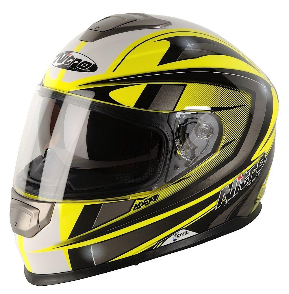 nitro apex 1100 dvs motorrad helm motorradhelm gelb. Black Bedroom Furniture Sets. Home Design Ideas