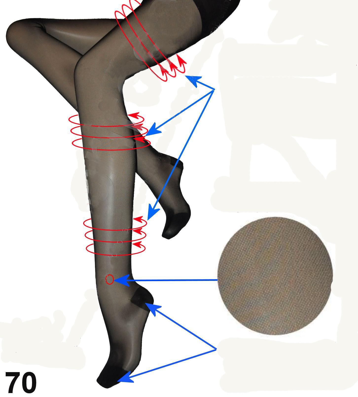 Orirose 0060 Damen Strumpfhose Shapewear Stützfunktion M -XXL Schwarz
