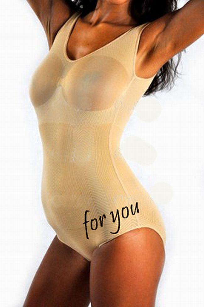 Schlank Body Shaper Mieder Korsett Bodysuit weiß M- XL