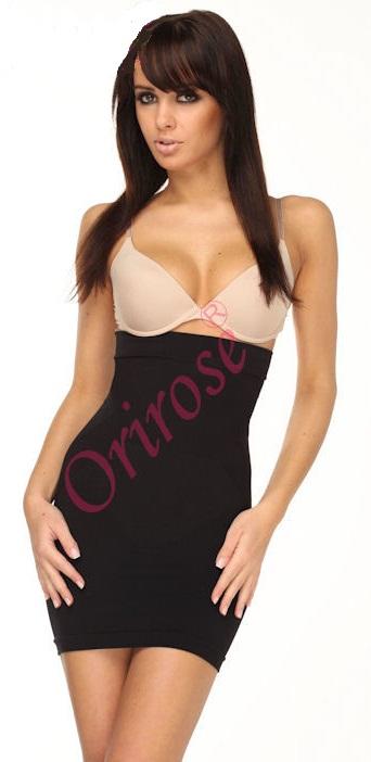 Miederrock Unterrock Unterwäsche Shapewear Mieder OriRose haut schwarz S/M L/XL
