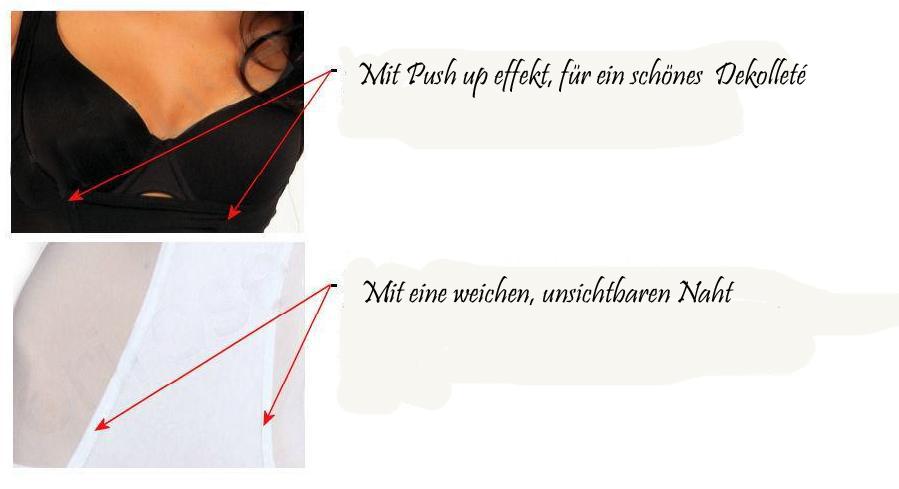 Damen Miederbody Comfort Shapewear Mieder OriRose schwarz 36 38 40 42 Neu
