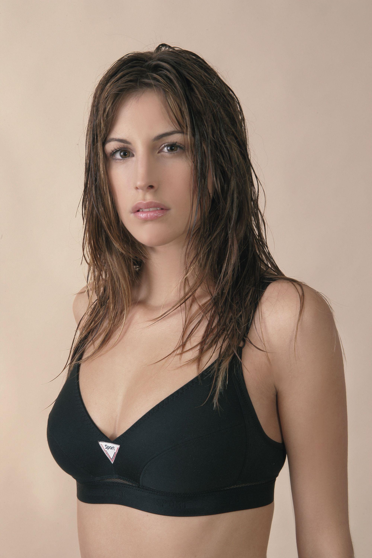 Sassa BH Sport-BH ohne Bügel Damen Baumwolle schwarz 75-95 B C D Neu