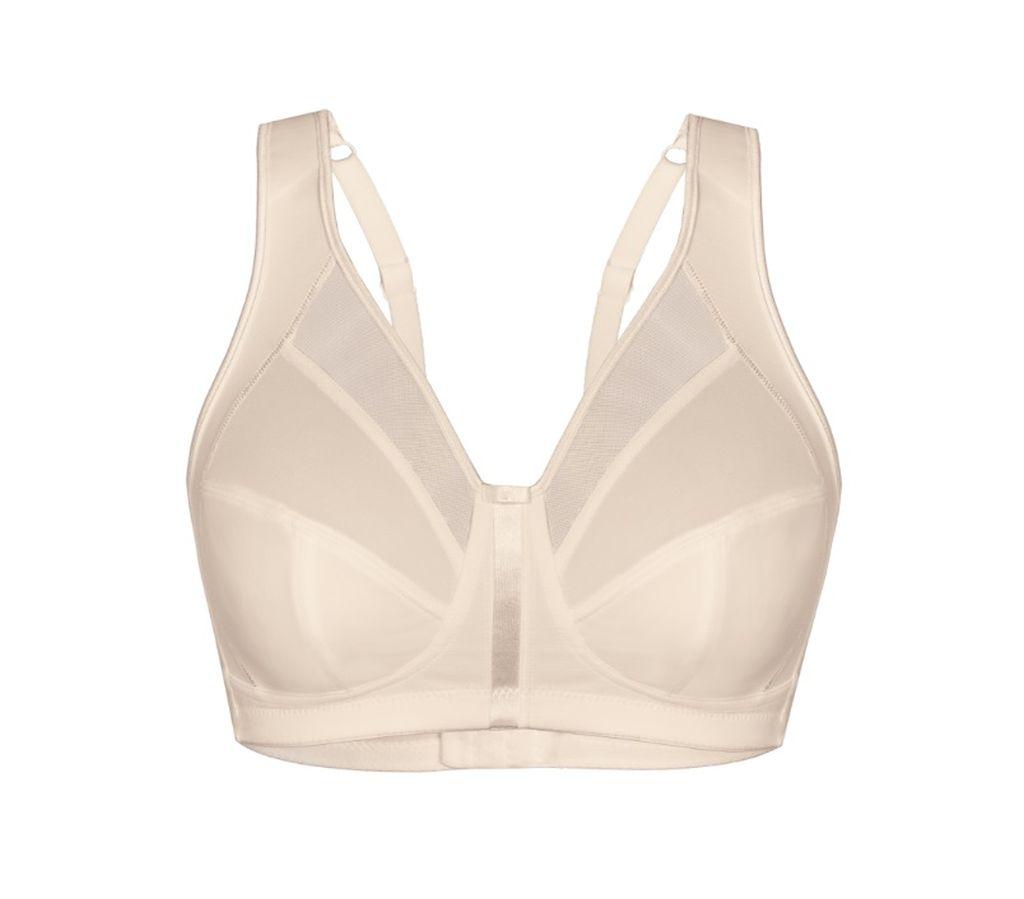 Damen Soft BH Sassa Pure Micro breite Träger ohne Bügel weiss skin 80 - 100 B-E