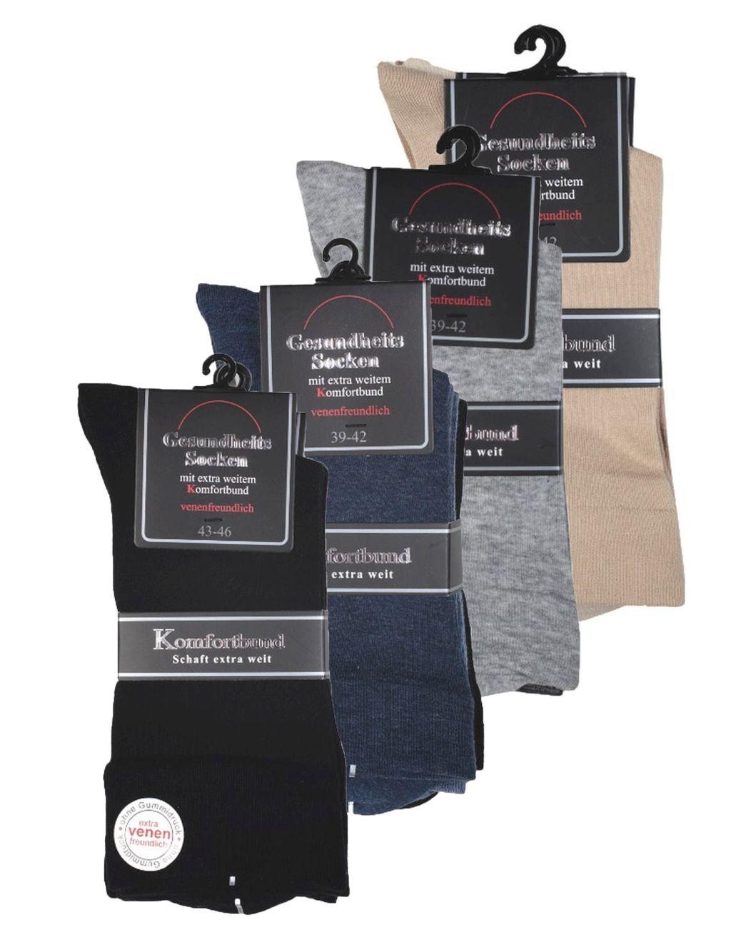6 Paar Herren Socken Gesundheitssocken mit extra weitem Schaft 26900