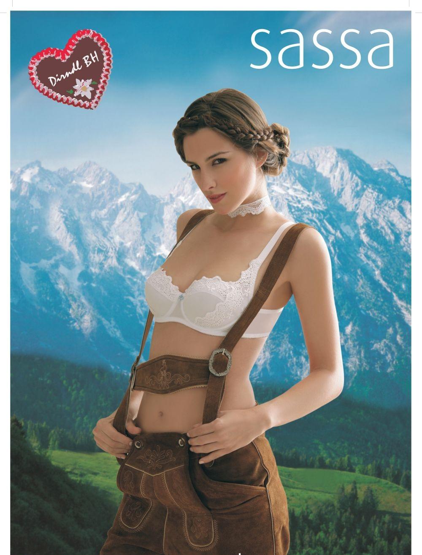 Balconette Dirndl-BH Bügel Oktoberfest Sassa 29007 -Lagerartikel- weiß