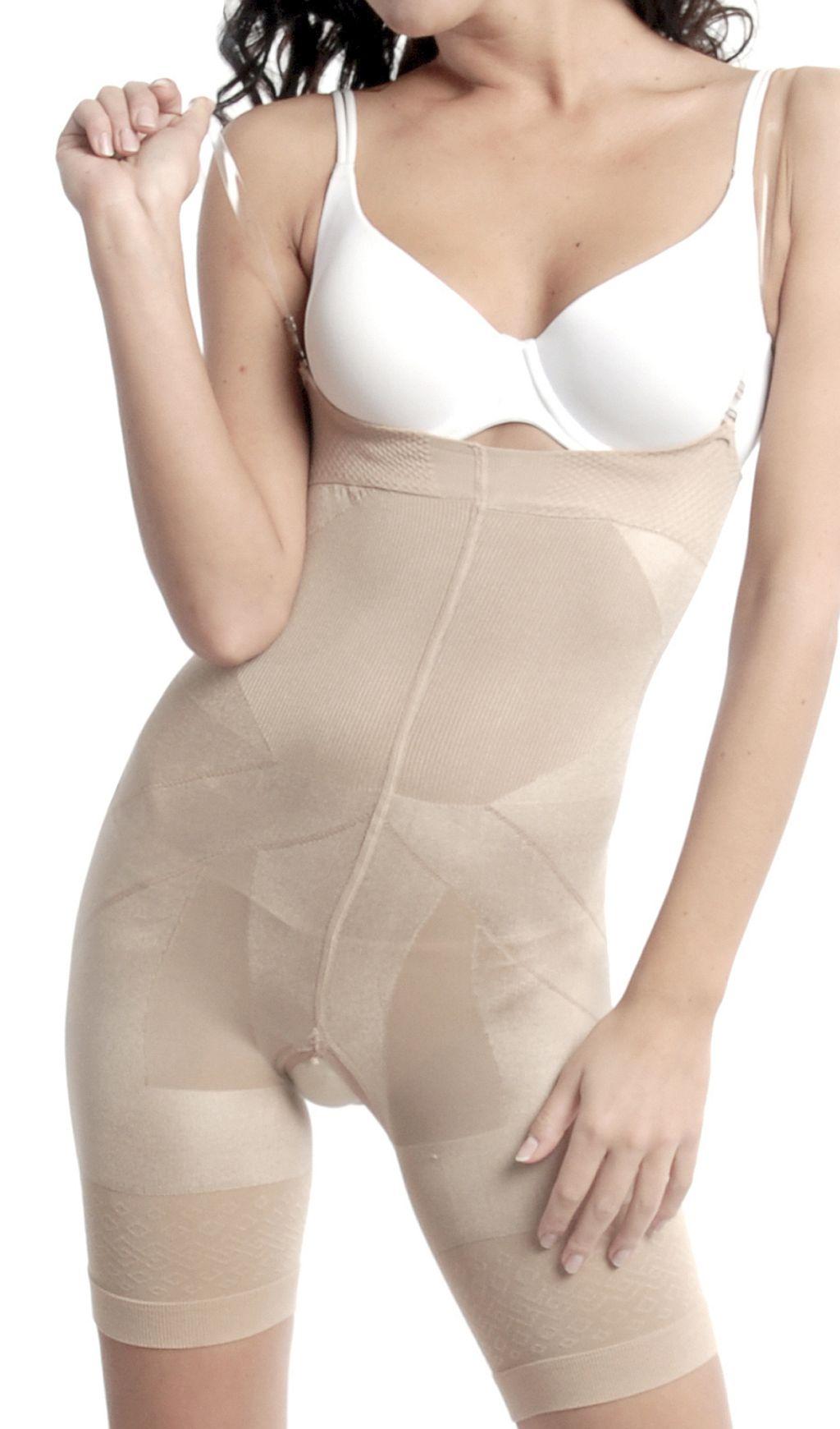 OriRose Damen Slim Comfort Miederhose Panty offener Schritt haut S-XXXL