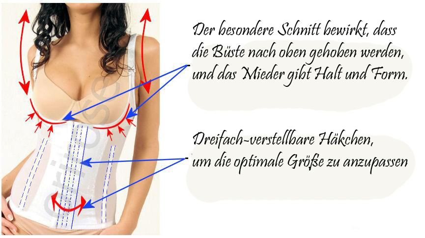 Magic Slim Mieder Taillenformer Bauchwegmieder Shapewear haut S - XXXL 3004