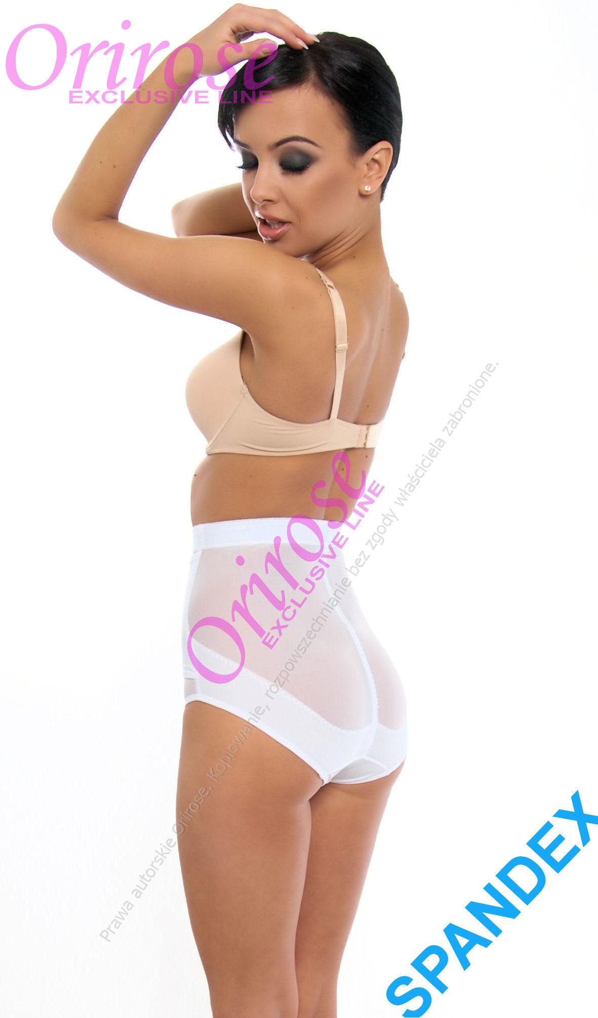 Damen Mieder Slip Taillenmieder Miederhose OriRose 3006 Weiß S-XXXL